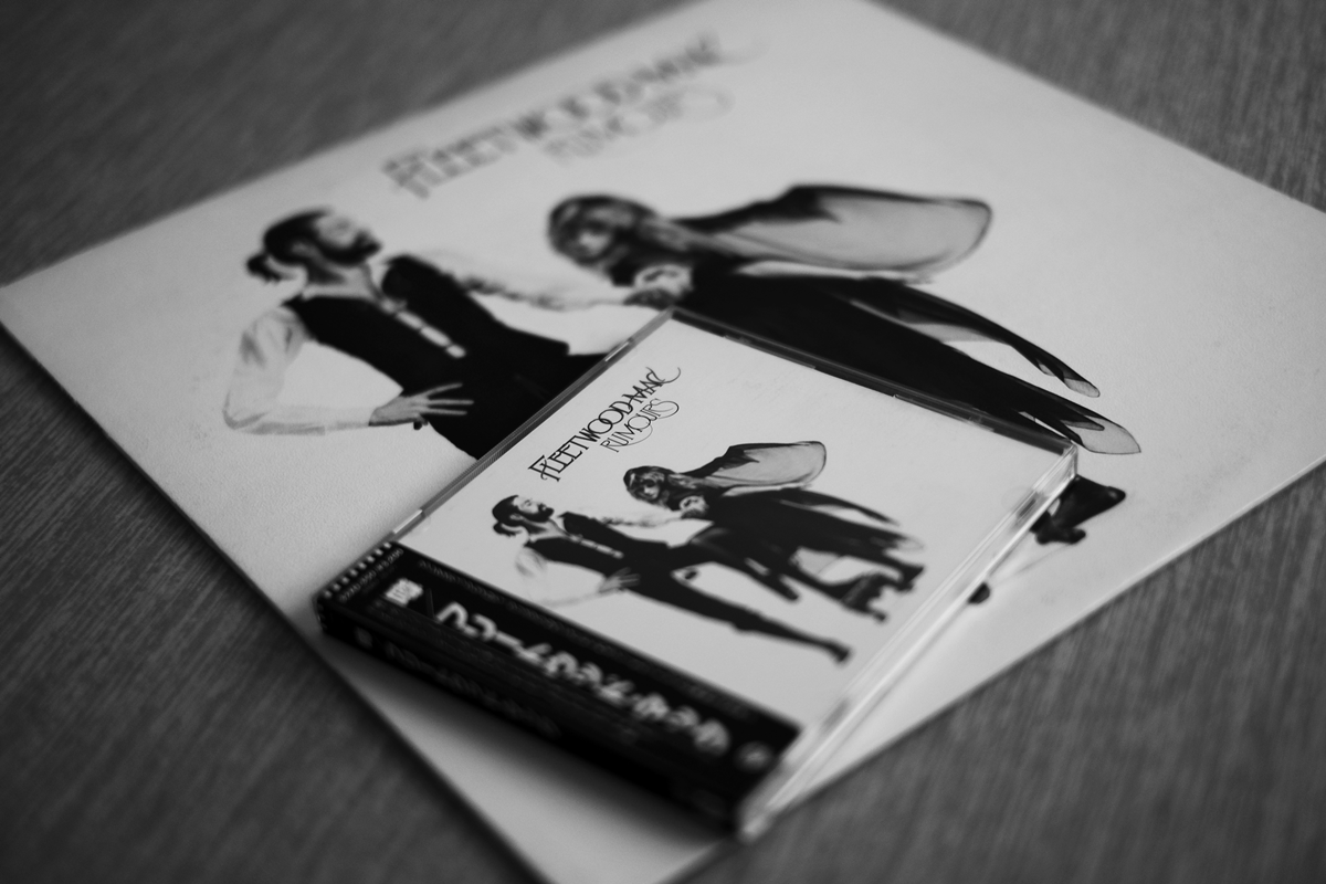 フリートウッドマックのレコードとCD モノクロ